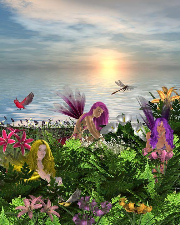Flower Fairies - Kathy Gold Art