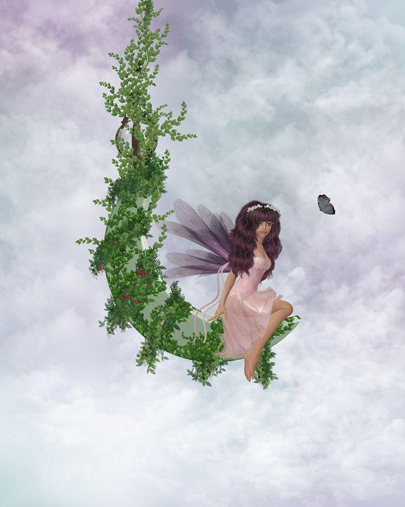 Moon Fairy - Kathy Gold Art