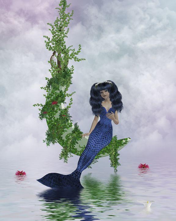 Moon Mermaid - Kathy Gold Art