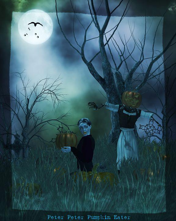 Peter Peter Pumpkin Eater - Kathy Gold Art
