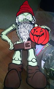 Zombie Gnome with Pumpkin