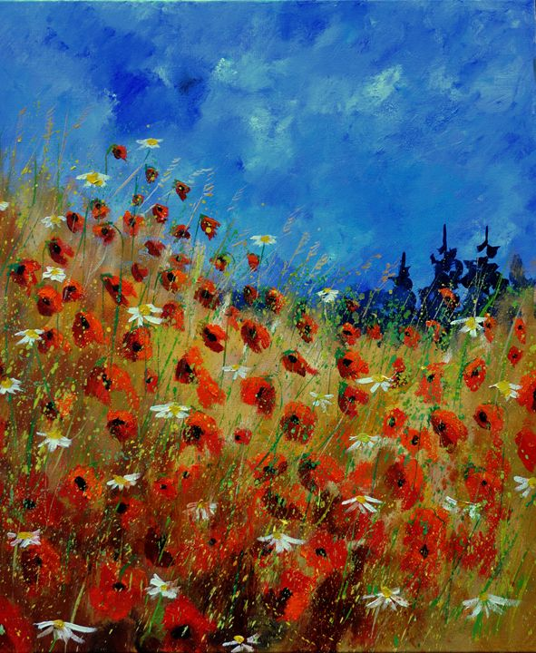 red poppies 672121 - Pol Ledent's paintings