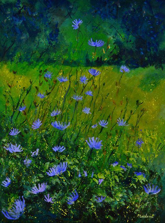 Blue corn flowers 68 - Pol Ledent's paintings