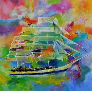 sailboat 88 - Pol Ledent's paintings