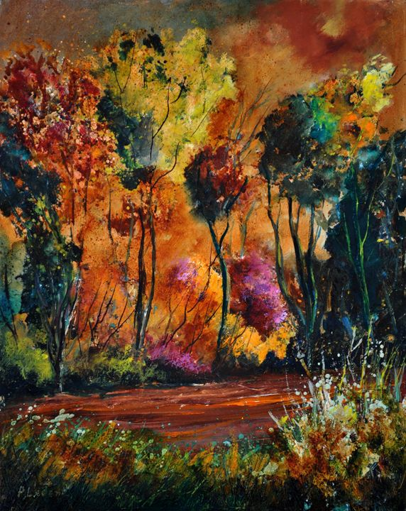 Wood in Houroy - Pol Ledent's paintings