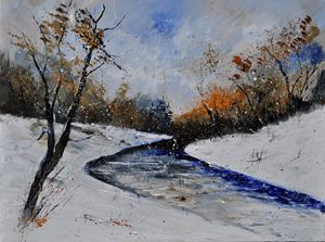 Winter landscape 6841 - Pol Ledent's paintings
