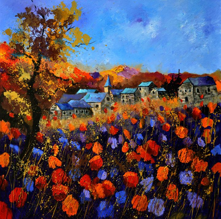 Village in Autumn 774111 - Pol Ledent's paintings
