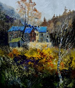Old mansion - Pol Ledent's paintings
