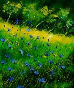 Blue cornflowers 674152 - Pol Ledent's paintings