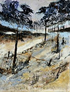 winter in the wood 4571 - Pol Ledent's paintings
