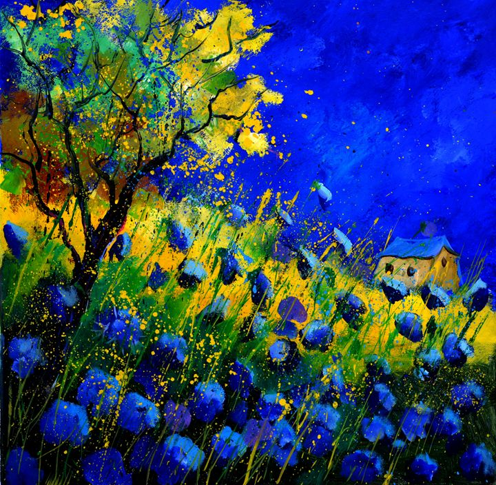 Blue poppies 5561 - Pol Ledent's paintings