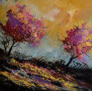 Oaks in autumn - Pol Ledent's paintings