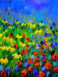 red poppies 452190 - Pol Ledent's paintings