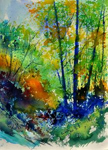 in the wood watercolour - Pol Ledent's paintings
