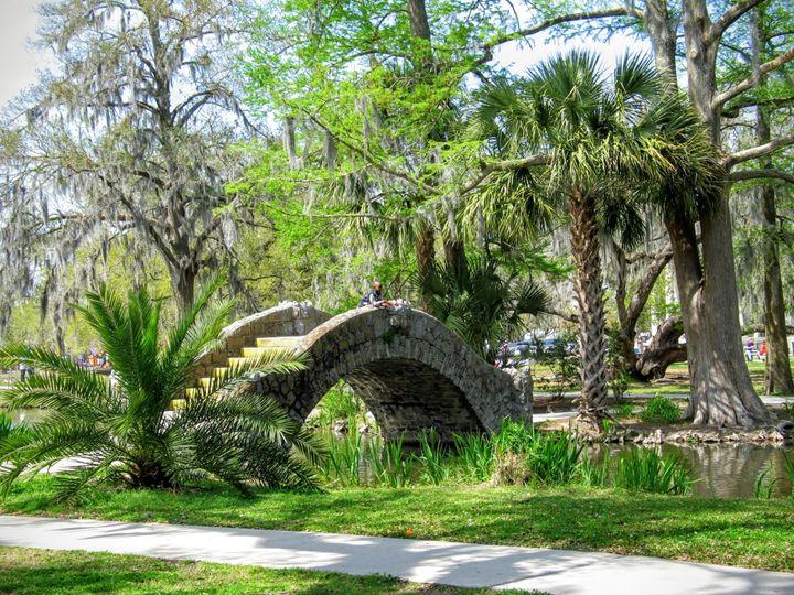 Boy on Stone Bridge - Olden Oaks