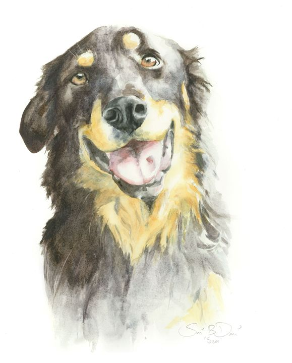 Gentle Sam - Watercolors by Susi