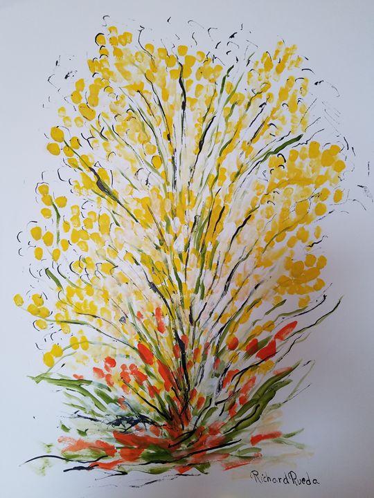 Yellow Chrysanthemum - Richard Rueda Gallery