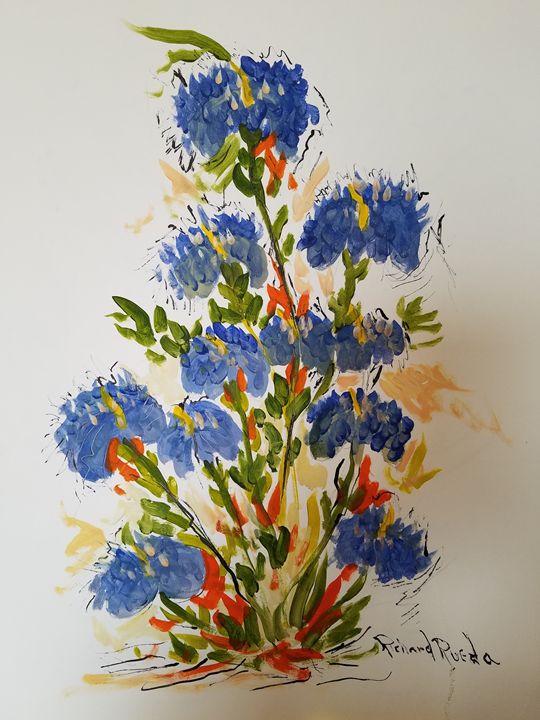 Blue Flowers - Richard Rueda Gallery