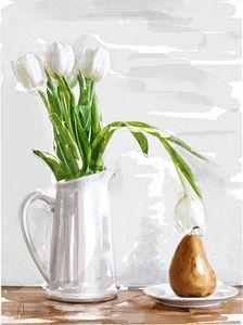 still life withh pear - Jovan watercolors