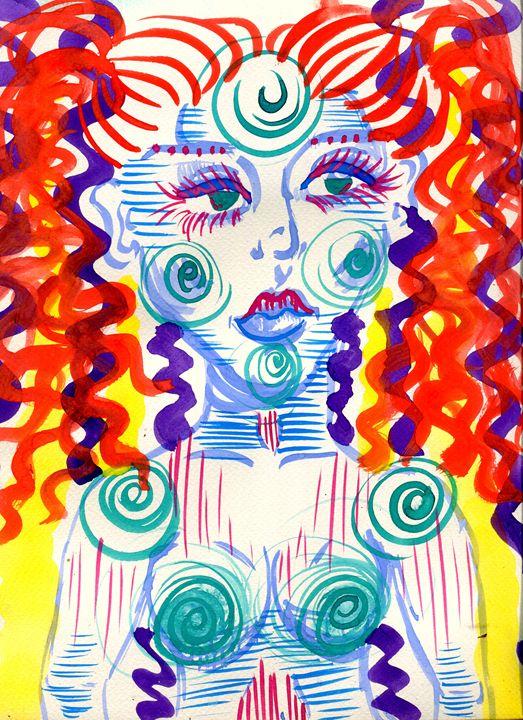 Alien Warrior Princess - Doodles