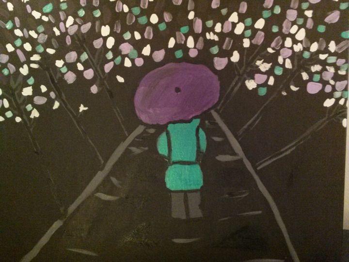 walking in the rain - Terah A