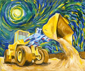 Construction at Auvers - Rich Janney Artwork