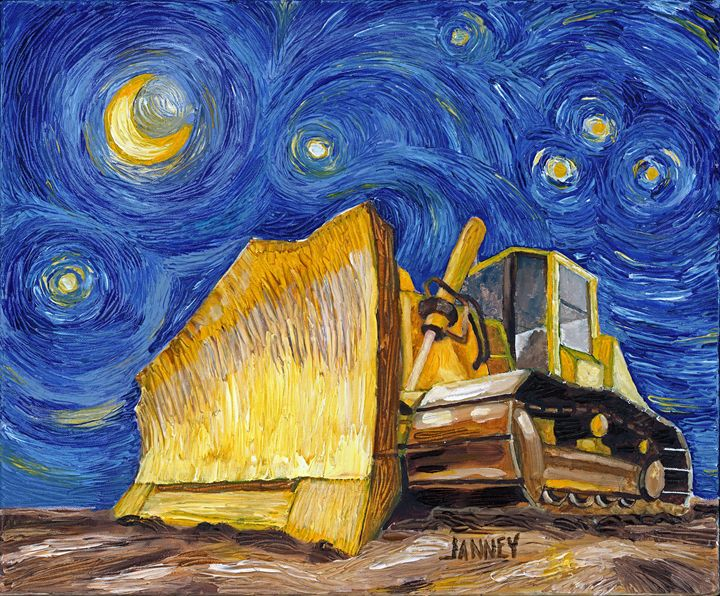 Vincent Van Dozer - Rich Janney Artwork
