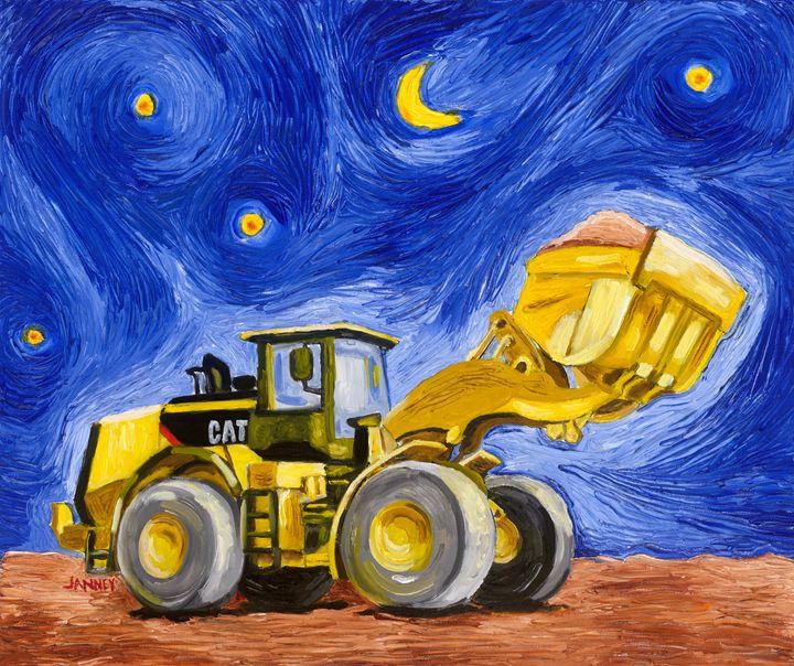Starry Cat - Rich Janney Artwork