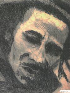 Bob Marley portrait.
