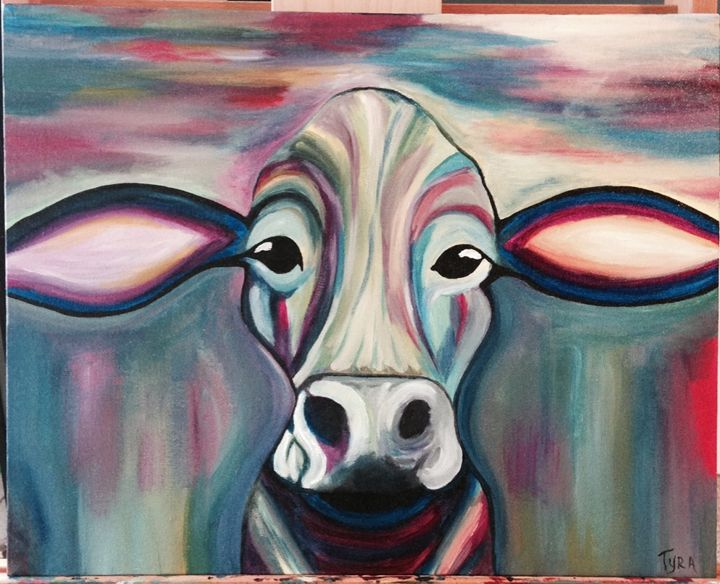 Barkley the Cow - Paintings by Tyra