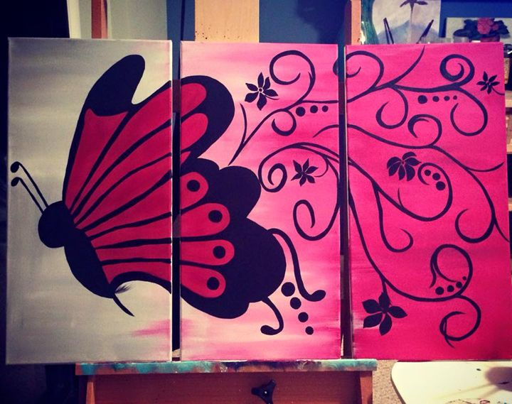 Flying Butterfly - Paintings by Tyra