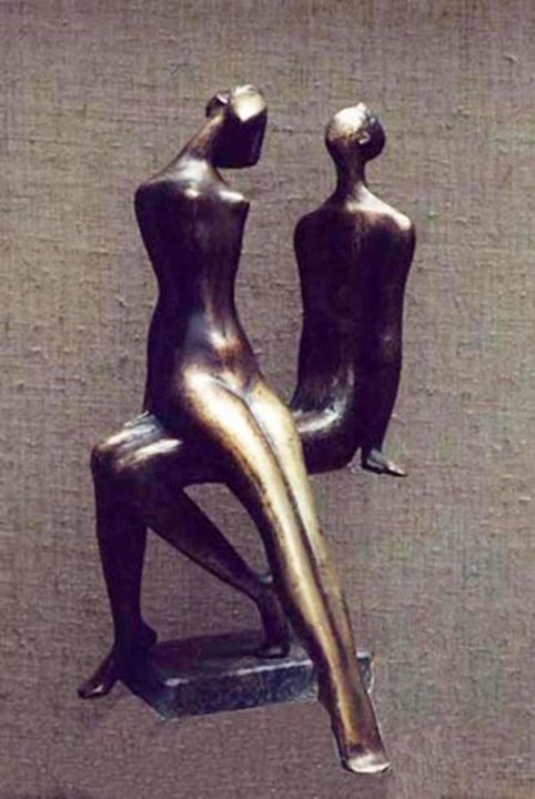 I Am And She  bronza - ZAKIR ART