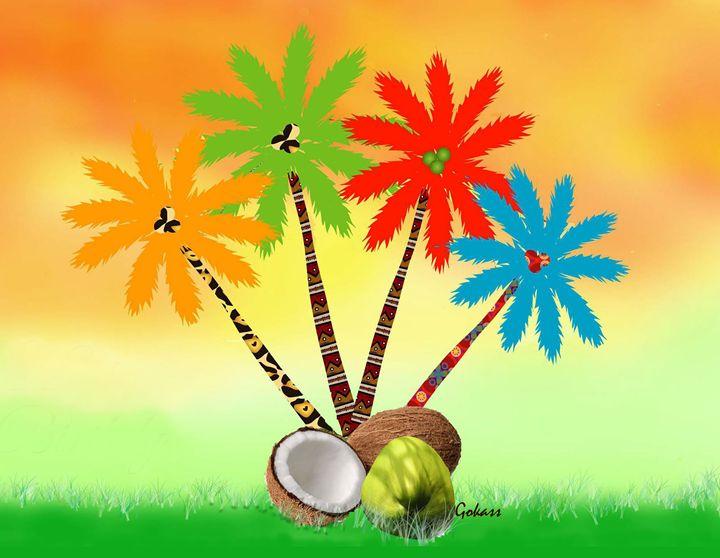 Palm trees in colors -Gabriel Kasumu - Gabriel Kasumu