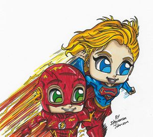 """"""" Supergirl & The Flash Team-up """""""