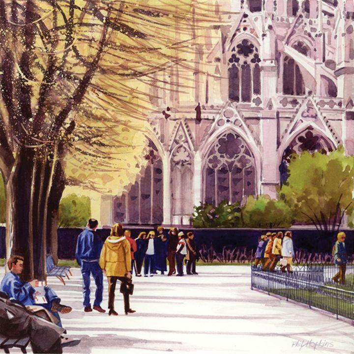 Behind Notre Dame, Paris - philhopkinsfineart