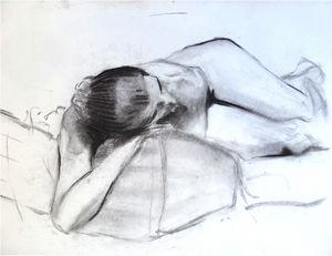 Reclining woman figure