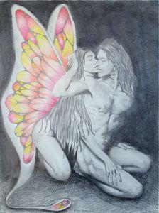 Fairy loves embrace