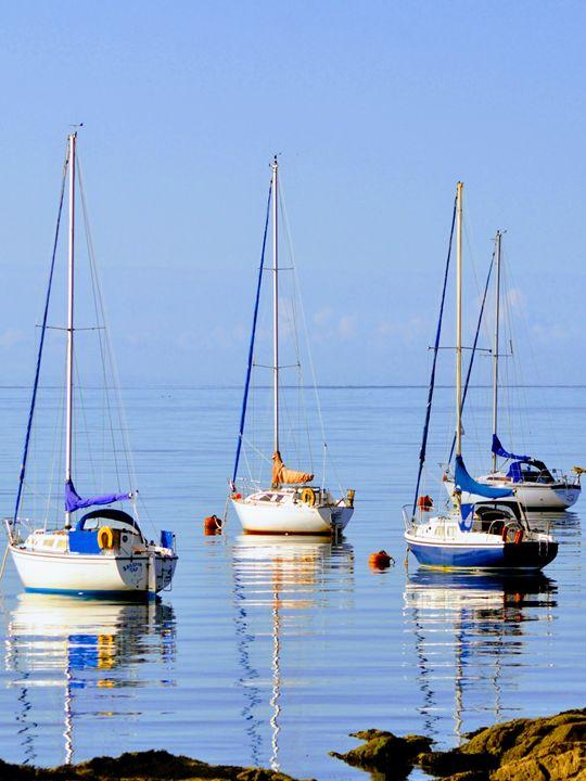 Sailing Boats, Millport, Scotland - Gemo Art