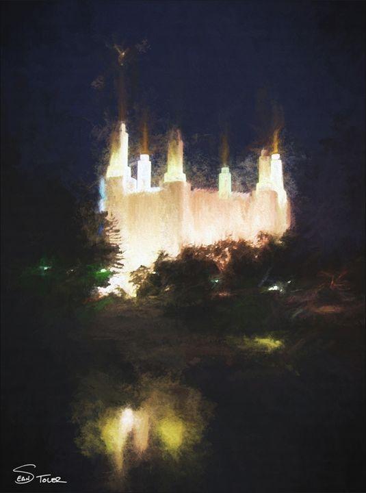 Washington DC LDS Temple at Night - Sean Toler Photo