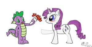 Spike in love with Rarity (MLP)