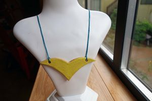 Yellow Ceramic Necklace