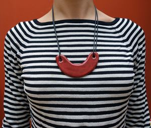 Bold Red Ceramic Necklace
