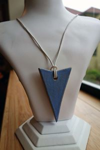 Blue Ceramic Arrow Necklace