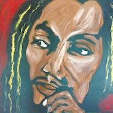 Bob Marley Acrylic on Canvas - Eyes on the wall