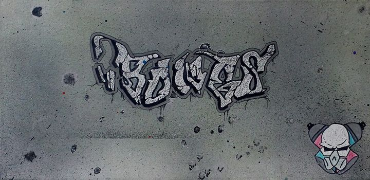 "Original ""Bones"" Graffiti tag - BS Dezignz"