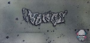 "Original ""Bones"" Graffiti tag"