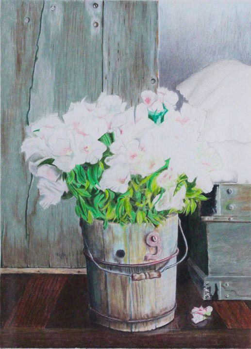Bucket of Flowers - Brandonorbanoskyart.com