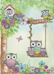 Owls on playing