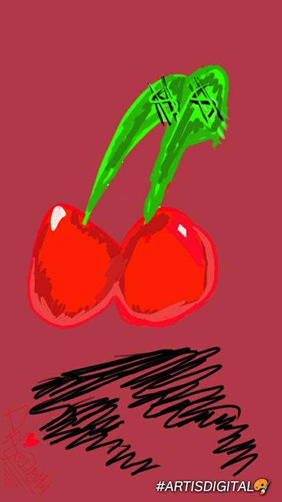 "2 ""Cherry signs"" 🍒 - Art is digital"