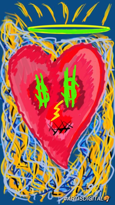 """BURNING HEART"" 🔥💝 - Art is digital"